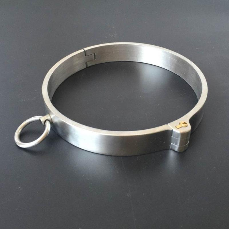 New Stainless Steel Neck Collar Bondage Lock Slave BDSM Restraints Posture  Collar Adults Games Products Sex Toys For Couples Y18100702 Sex In The City  Game ...