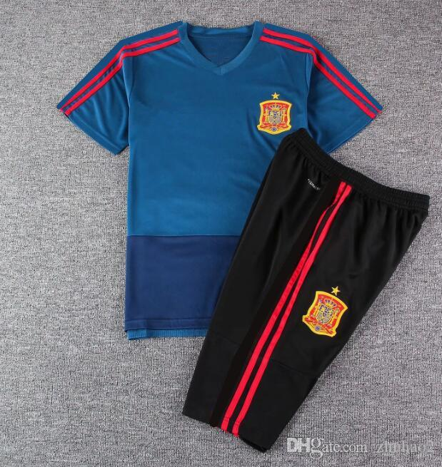 0eba2496b46 2019 2018 World Cup Spain Soccer Training Wear Adult ISCO ASENSIO Spain  Soccer Jerseys MORATA ISCO A.INIESTA ASENSIO Football Uniforms From  Zhuhao2