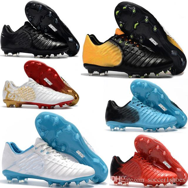 c6ede9755 Cheap New Outdoor Mens Tiempo Legend VII FG Football Boots Leather ...