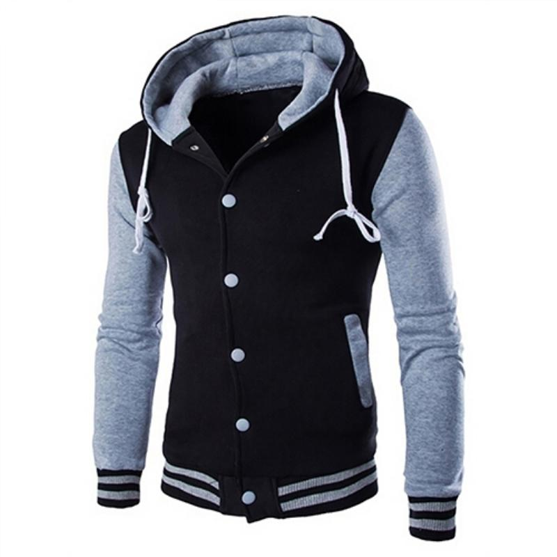 c72b89bf36e Hot Men Hooded Color Block Slim Fit Baseball Jacket Casual Coat Outwear  D18101105 Online with $33.54/Piece on Shen07's Store | DHgate.com