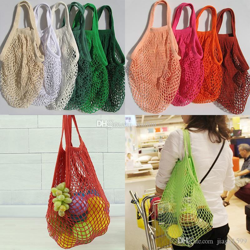 Fashion String Shopping Fruit Vegetables Grocery Bag Shopper Tote Mesh Net Woven Cotton Shoulder Bag Hand Totes Home Storage Bags Storage Bags Storage Bags ... & Fashion String Shopping Fruit Vegetables Grocery Bag Shopper Tote ...