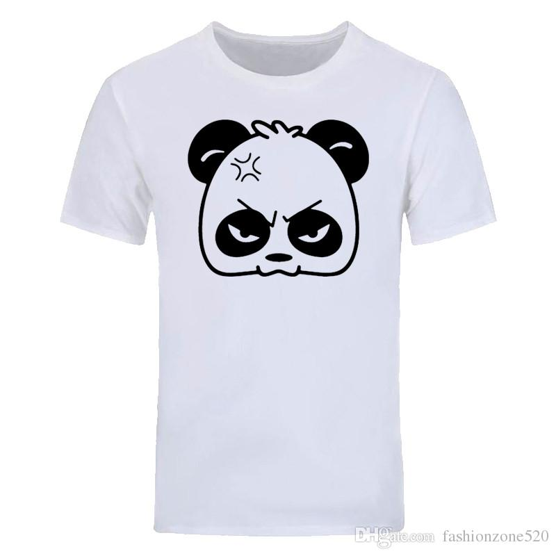 Angry PANDA Cartoon Novelty Printed Mens Men T Shirt Tshirt New Short Sleeve O Neck Cotton T-shirt tops Tees DIY-0884D