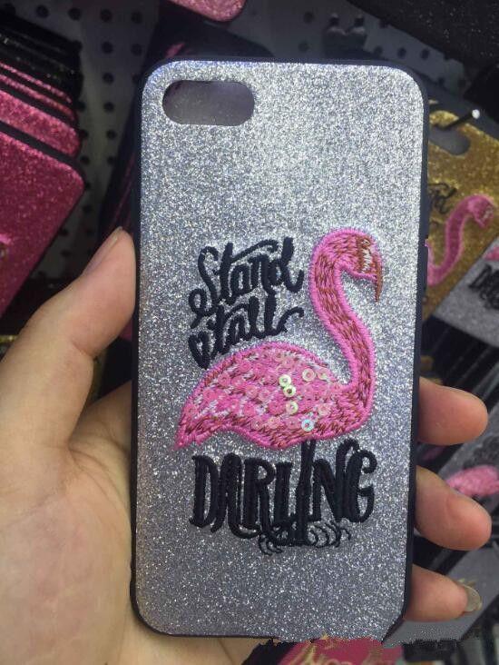 Nuevo Hot Flamingo TPU Glitter Funda protectora para teléfono Funda protectora Carcasas para iPhone X 8 7 6 Plus es