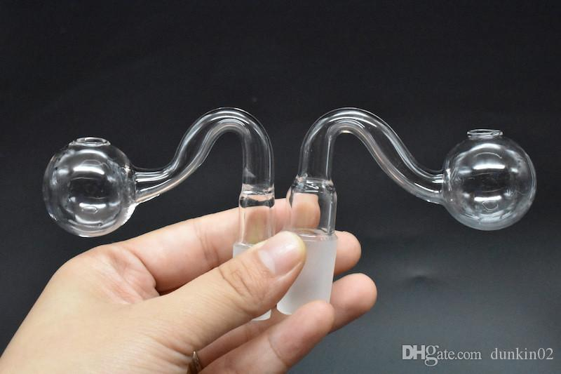 2 UNIDS Nueva pyrex tubo de vidrio grueso quemador de aceite tubos de vidrio 10mm 14mm 18mm macho hembra quemador de aceite bubbler para bubbler tubos de agua bong