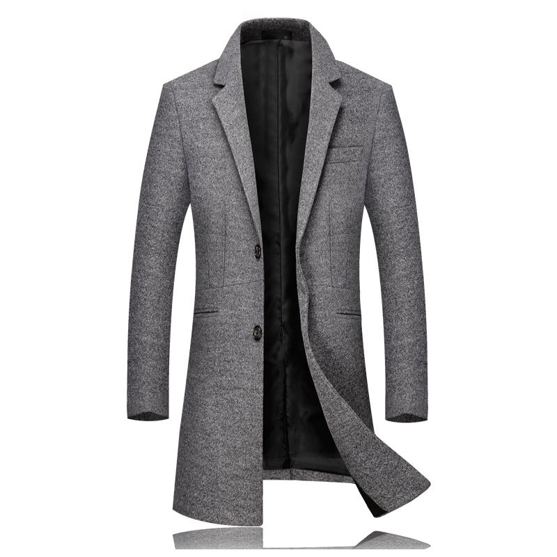 7fbe9a771acd Großhandel Mode Marken Mann Langärmliges Wollmantel Grau Schwarz Grün  Purpurrote Dünne Elegante Mens Winter Lange Kleid Jacke Von Charle,  120.93  Auf De.