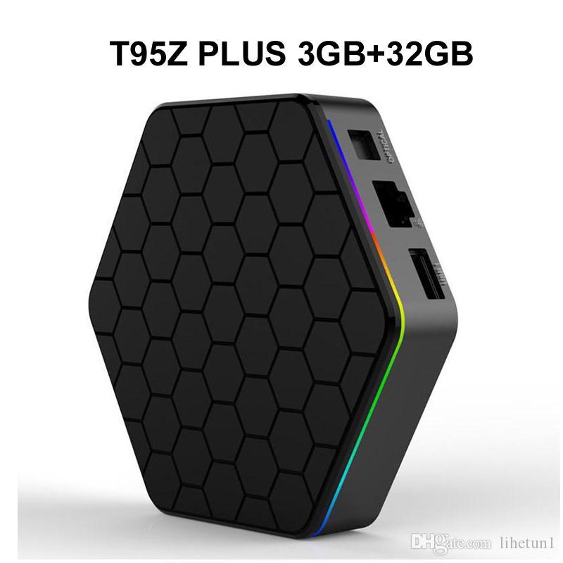 10pcs Original T95Z Plus 3GB 32GB Amlogic S912 Android 7 1 TV Box Octa core  2 4G/5G WIFI BT 4K