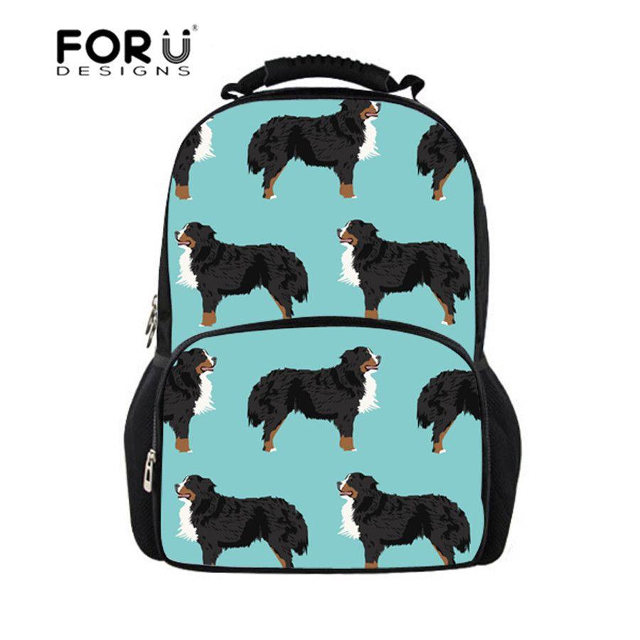 0a6c62c2961 FORUDESIGNS School Bags Teenager Boys Bernese Dog Animal Prints Schoolbag  Female Backpack To School Notebooks Laptop ...