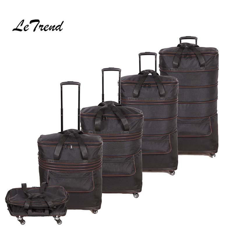 a8c0076900 Ultralight High Capacity Foldable Rolling Luggage Travel Bag Waterproof  Suitcase Wheels Trolley Oxford Cloth Student Trunk Gym Bags For Women  Messenger Bags ...
