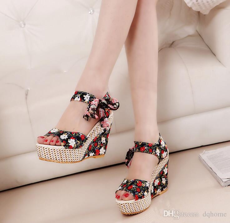 New Arrival Ladies Shoes Women Sandals Summer Open Toe Fish Head Fashion  Platform High Heels Wedge Sandals Female Shoes Women Wholesale Shoes  Sandles From ... 388ced69c51a