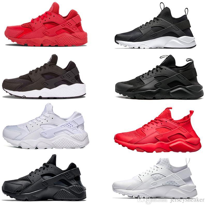 58cc30564c35 2018 Huarache IV Classical Triple White Black Huarache Shoes Men And ...