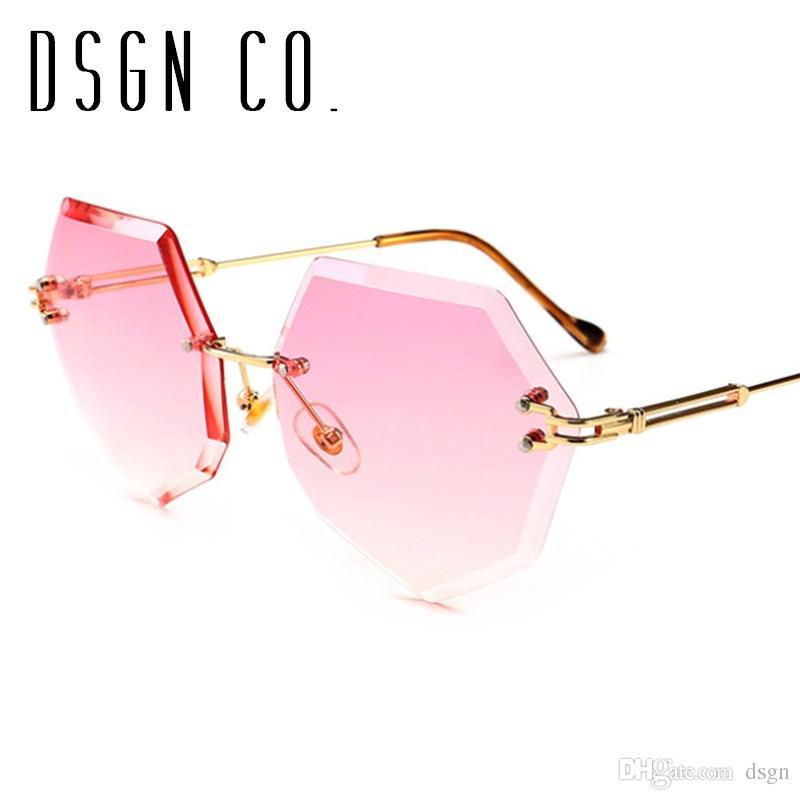 prezzo competitivo 8c8b7 36e40 DSGN CO. 2018 Eleganti occhiali da sole alla moda per le donne Eleganti  moda di marca 8 colori Occhiali da sole di lusso UV400