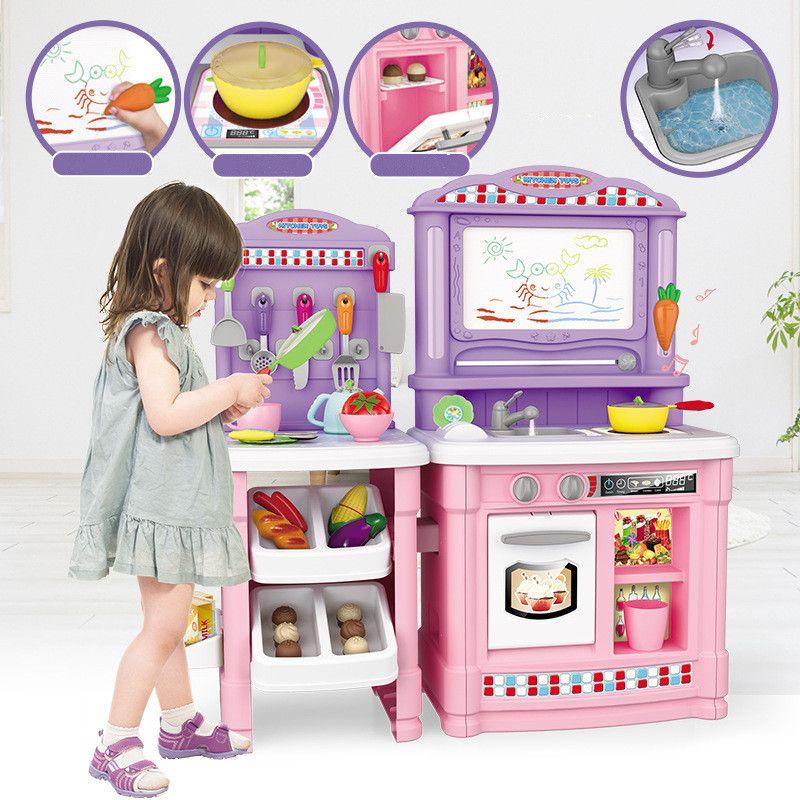 2019 Kids Kitchen Set Multifunction Play Toy Utensils Kitchen Items