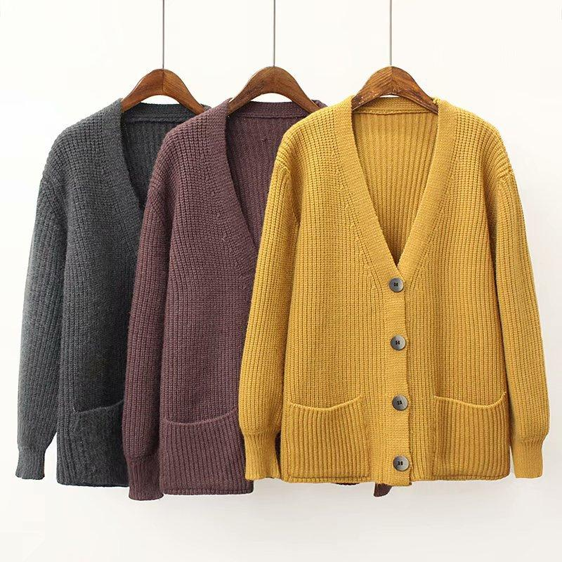 1c5cb148 2019 Causey 2018 Autumn Cardigan Women Fashion Sweater Women Loose Long  Sleeve Knitted Cardigan Jacket Female Sueter Mujer From Cactuse, $56.83 |  DHgate.Com