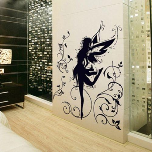 Compre Novo Design Hot Selling Black Dancing Girl Fairy Spirit Wall Decal  Wall Stickers Para Crianças Quartos Vinyl Art Decals Mural La087 De  Yigu002, ...