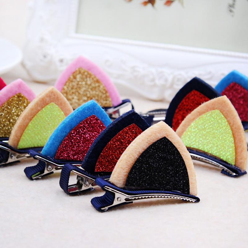Little Girls Barrettes Cute Cat Ears Hair Clip Children Safety Hairpin Headband For Kids Hair Accessories