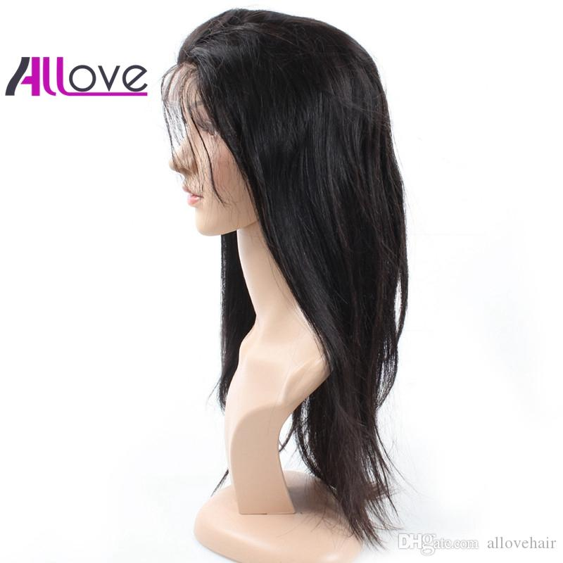 Silky Straight Human Hair Lace Front Wigs 180 Density Good Quality Cheap 8A Brazilian Hair Indian Peruvian Lace Front Wigs