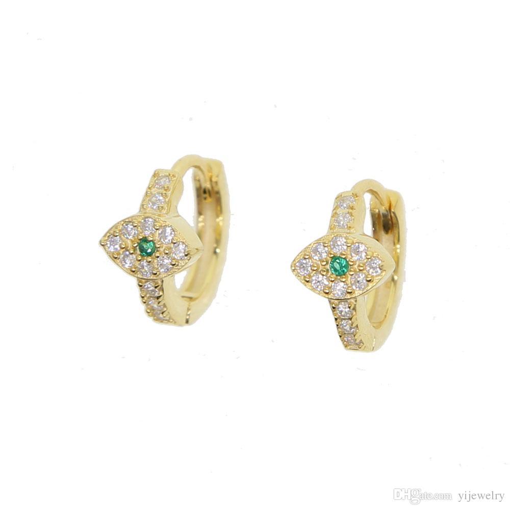 ac40a3ce9 2019 Lucky Girl Evil Eye Hoop Earring Elegance 925 Sterling Silver Fine  Earring Hoops Huggie Cz Hoop Minimal Trendy Modern Jewelry From Yijewelry,  ...
