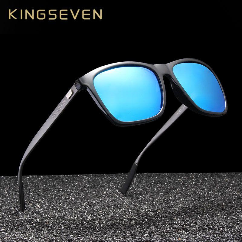 b0832e6229db9 Compre X Kingsve Marca Moldura De Alumínio Óculos De Sol Dos Homens Espelho Polarizado  Óculos De Sol Das Mulheres Óculos Acessórios N787 De Ruiqi07