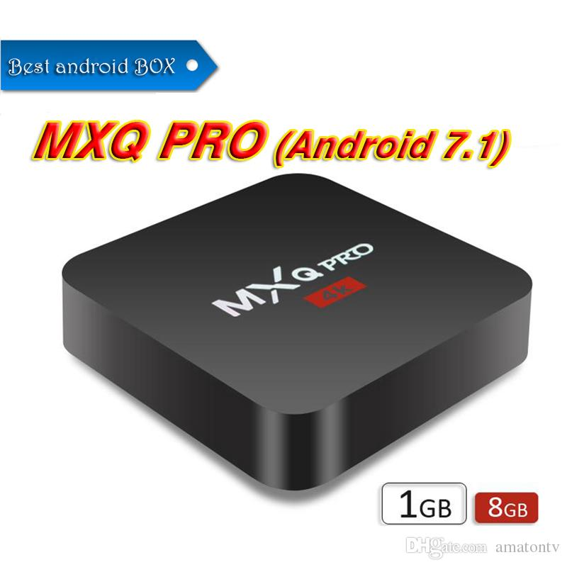 MXQ Pro 4K Android 7.1 TV Box Rockchip RK3229 Quad Core 1GB RAM 8GB FLASH Android tv Streaming
