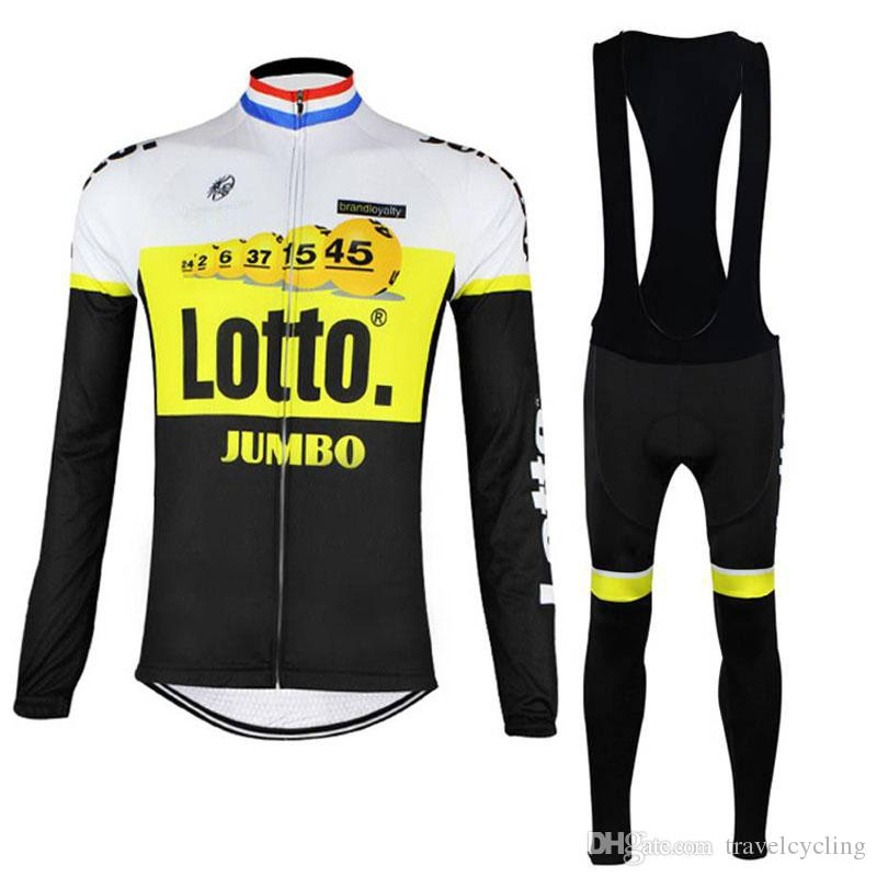 New Cycling Jersey Set LOTTO Long Sleeve Mountain Bike Clothes Men Racing Bicycle  Clothing Ropa Ciclismo Outdoor Sports Suit 111313Y Cycling Short Bicycle ... a93eb056a