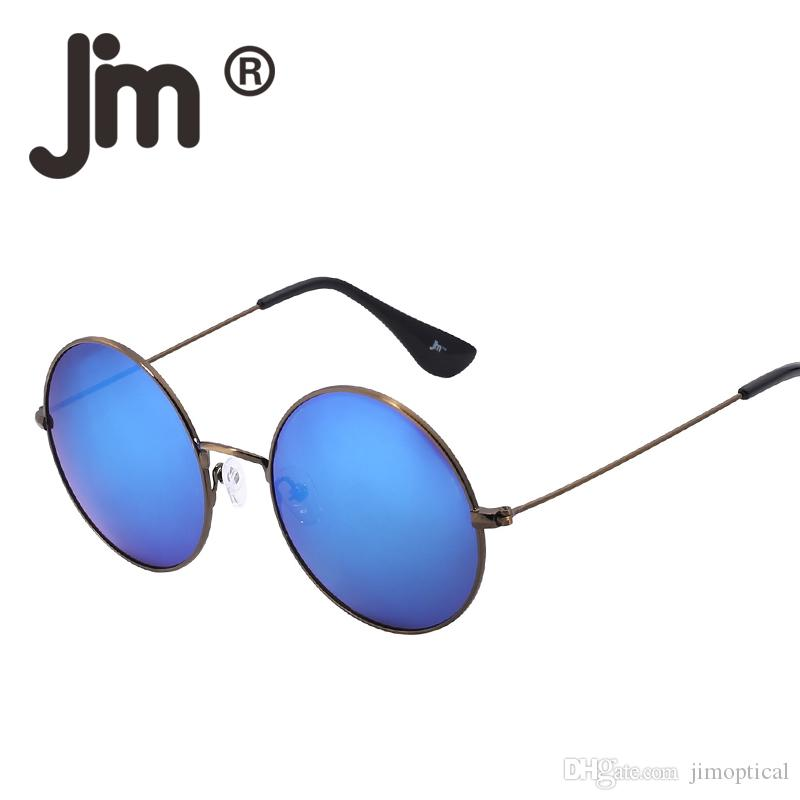 5f0248df5b JM Vintage Round Metal Frame Flash Mirror Reflective Circle Lens ...