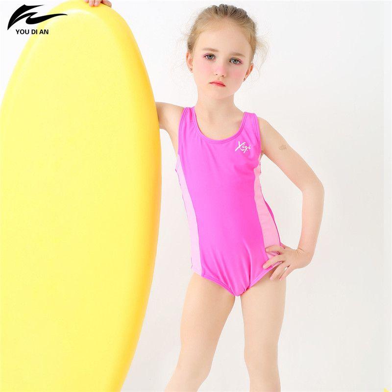 Compre Youdian 2 13y Lovely Baby Girl Swimwear Niños Traje De Baño ...