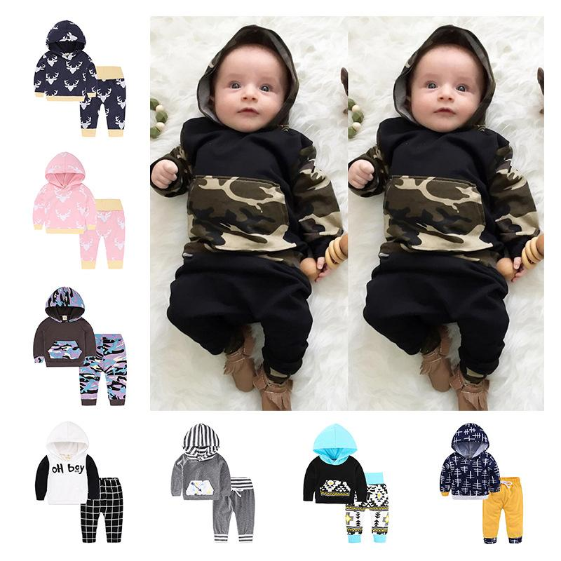740e7ec066eb 2019 Baby Pullover Kids Set Hot Sale Infant Clothes Baby Clothing Sets Baby  Boys Cartoon Hoodie Tops Long Pants Outfits Set Clothes From Haofei3487