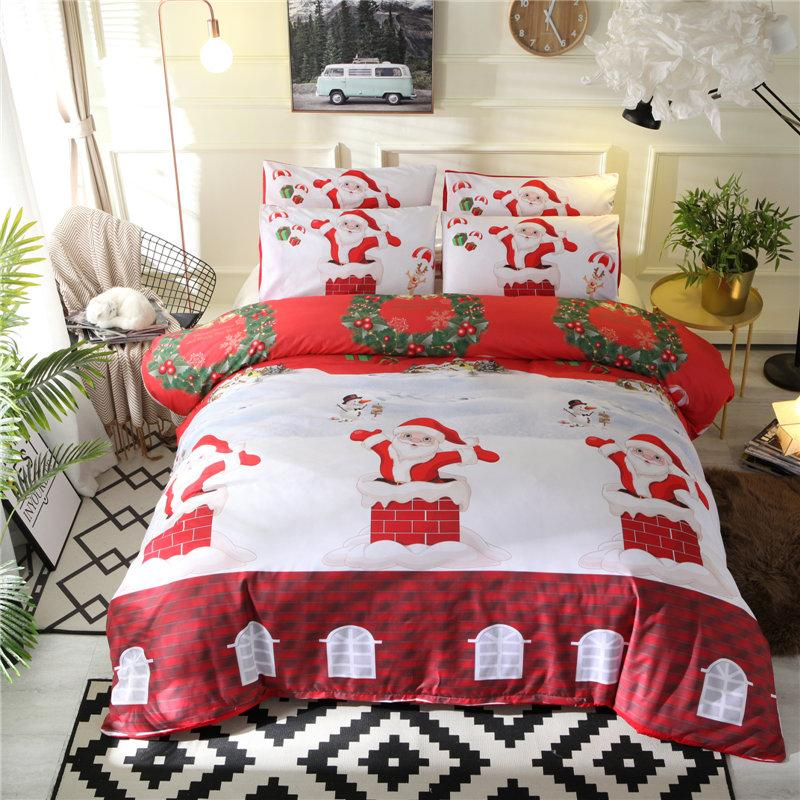 New Arrival Christmas Bedding Sets Queen Size Cartoon Style Duvet Cover Set for Kids Soft Comfortable Bed Cover Bedlinens