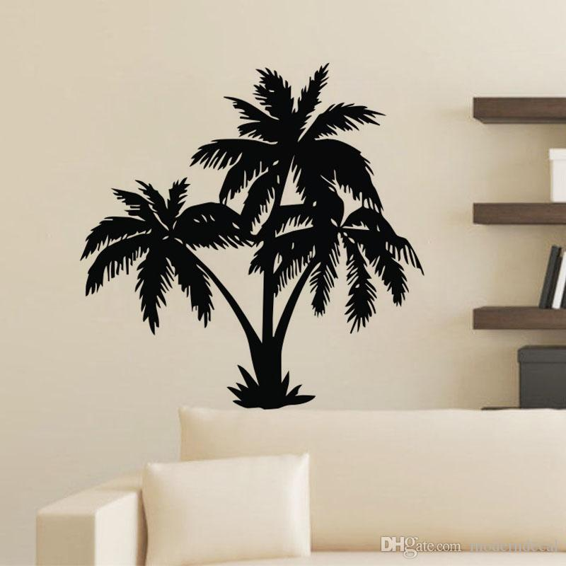 Palm Tree Wall Stickers Modern Home Decor Removable Vinyl Wall