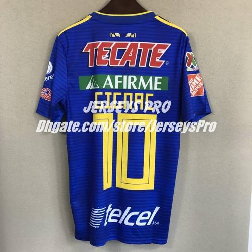688b03c97 2019 Andre Gignac Tigres UANL 2018 2019 Away Blue Jersey Mexico Tigers  Soccer Football Shirts Camiseta De Futbol Azul With Liga MX Patch From  Jerseyspro