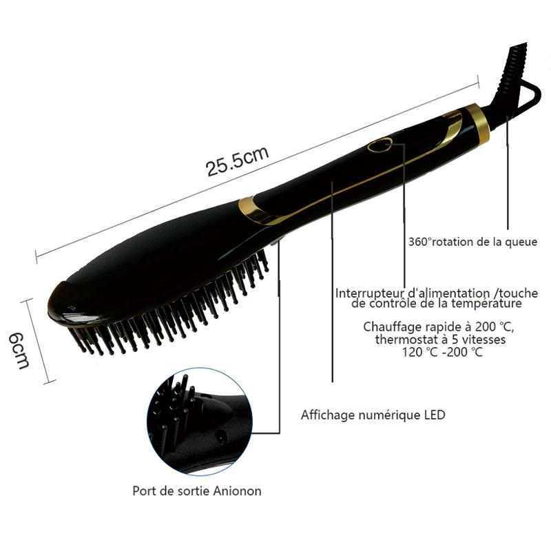 With Negative Ion Function Hair Straight Electric Digital Control Antiscaled Fast Hair Straightener Brush Comb Irons Lcd Display