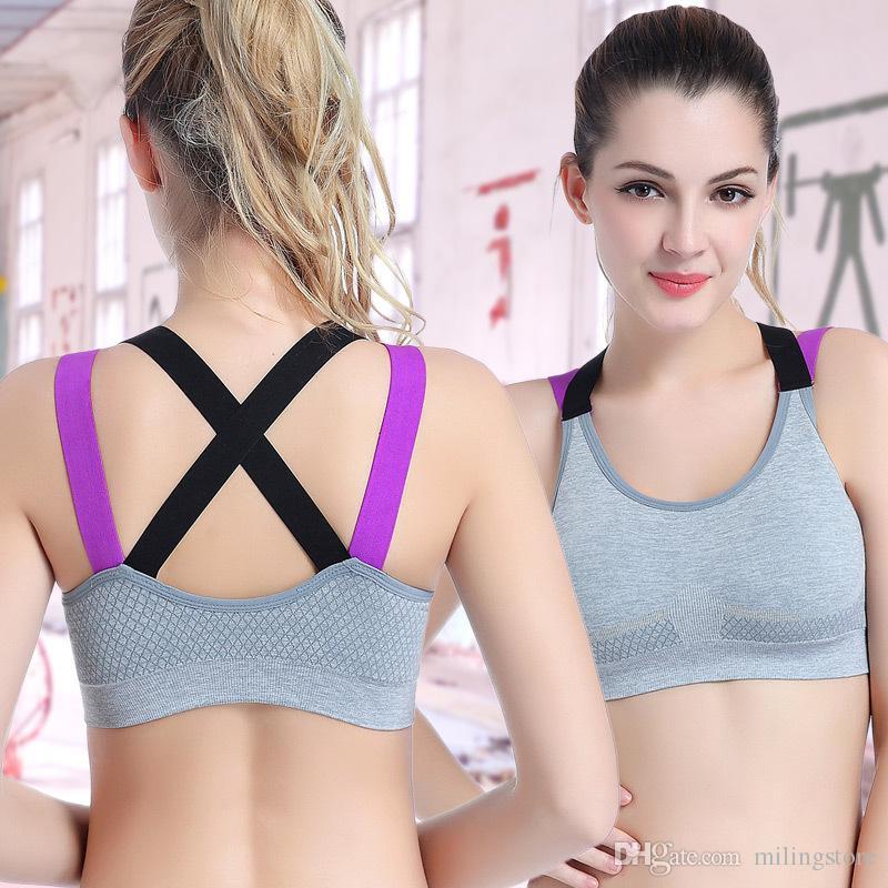 7b4a2bafdd Push Up Sports Bra Women Gym Running Padded Tank Top Athletic Yoga ...