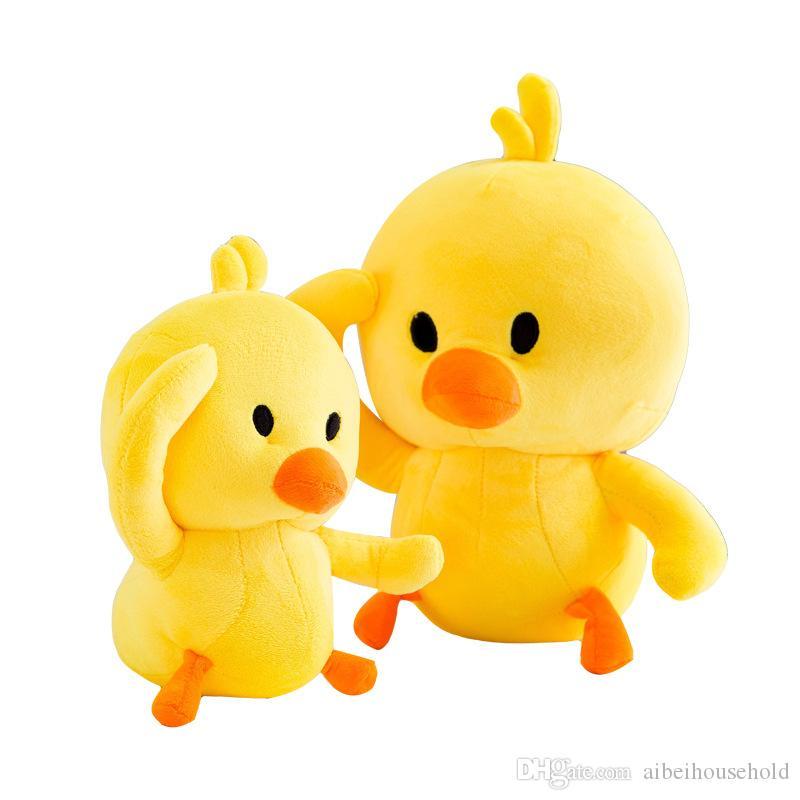 2019 Funny Emoji Toys Cartoon Yellow Duck Stuffed Animal Plush Soft