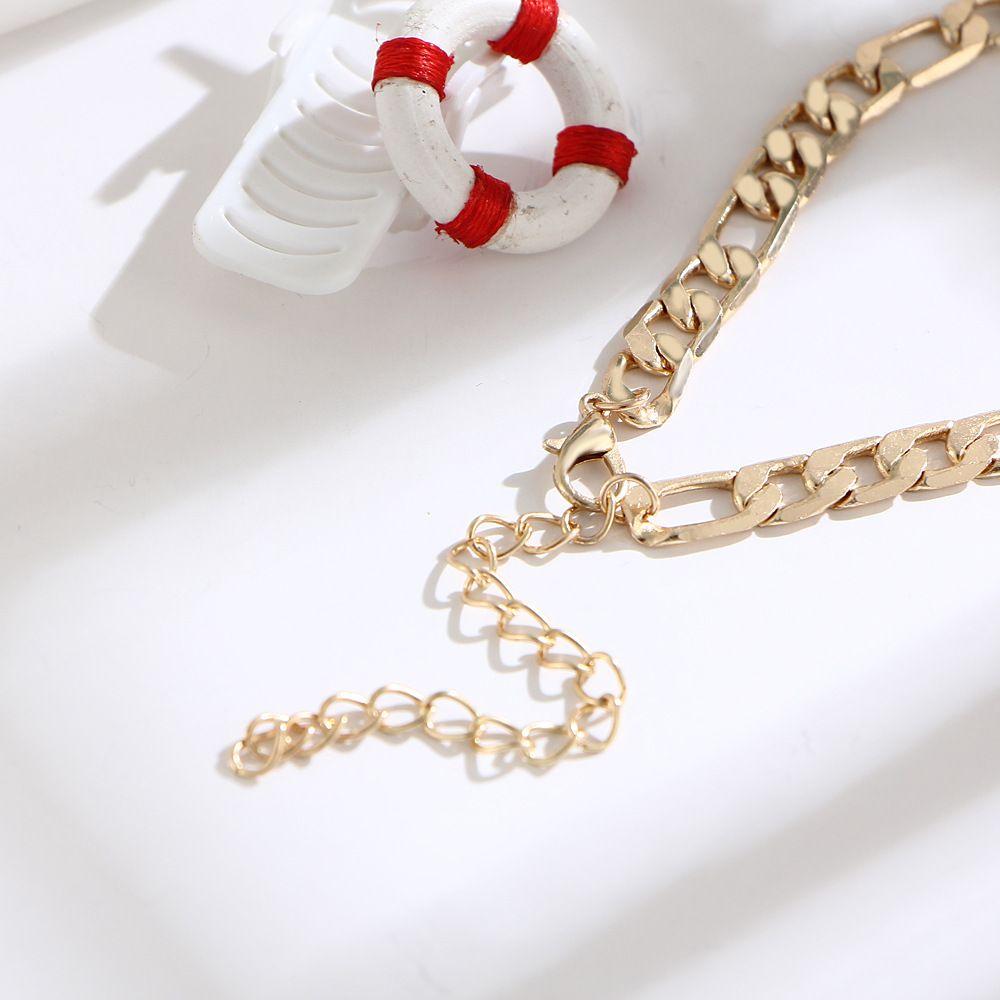 Art und Weise Sommer-Fuss-Ketten Maxi-Kette Knöchel-Armband Gold-Fußkettchen Halhal barfüßigsandelholze Strand Füße Schmuck Accessoires