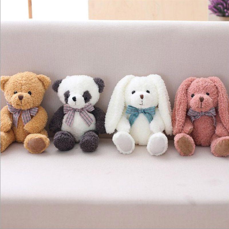 35cm Stuffed Plush Toy Forest Animals Bear Panda Monkey Rabbit Toy Plush Baby Doll Girls Birthday Gift Toy Plush Doll