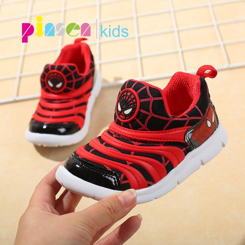 a43909bb7 Compre 2018 Autumn Spiderman Calzado Infantil Para Niños Zapatillas De  Deporte Niñas Deporte Infantil Casual Ligero Transpirable Baby Boys Flats  Zapatos ...