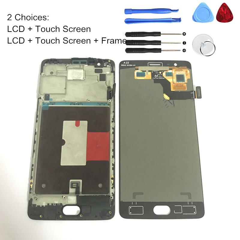 Tested Grade S LCD Digitizer Oneplus 3t a3010 LCD Display Touch Screen  Frame Assembly One Plus 3t a3003 Panel Replacement Parts