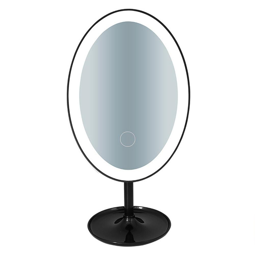 Lighted Makeup Mirror.Led Sensing Lighted Makeup Mirror Portable Vanity Compact Desktop Cosmetic Mirrors Tools Make Up Double Sided Rotatable Folding