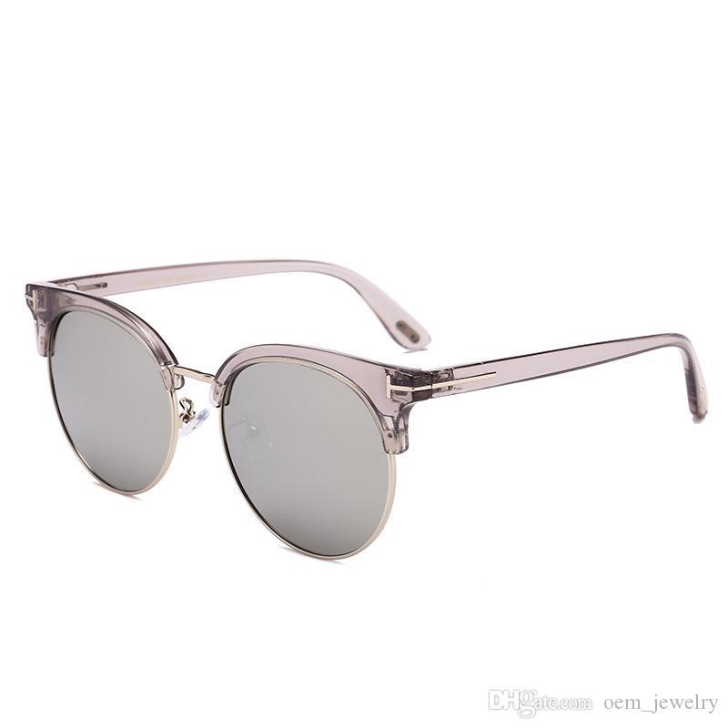 24f9fcd662c 2018 Classic Polarized Semi Rimless Sunglasses Men Women Retro Brand  Designer Graditent Sun Glasses Unisex Fashion Mirror Round Sunglass  Sunglasses Shop ...
