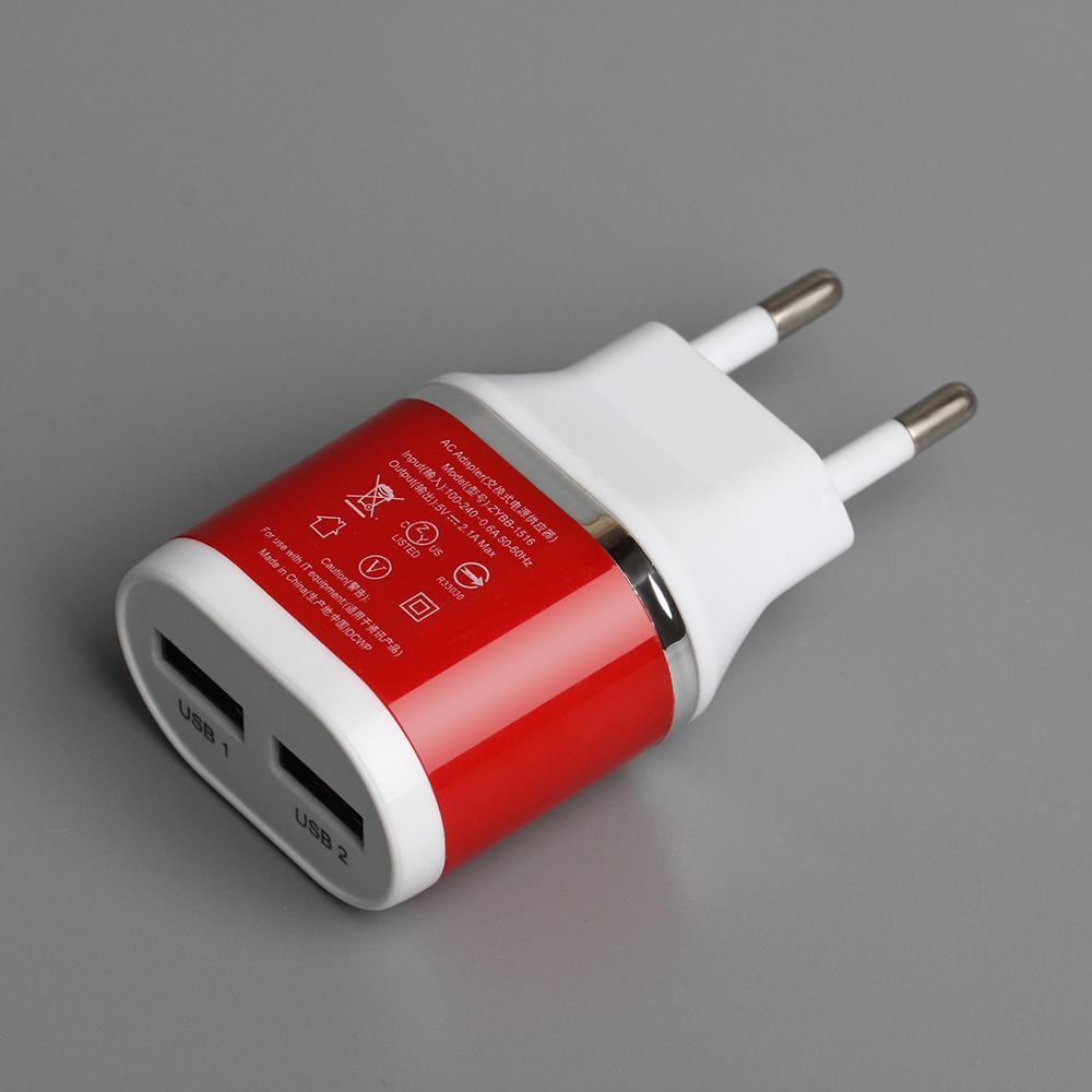 3dad5bf3c Colorful 5V 2A Dual USB EU Plug Wall Charger Home Travel Power Adapter  Cargador De Celular For Samsung Android Phone For IPhone Wireless Phone  Adapter Phone ...