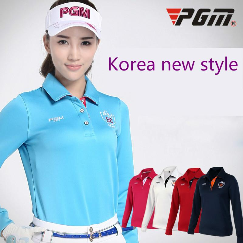 2018 PGM products style ladies T-shirts Breathable golf long sleeved women's jerseys Lady High Elastic sport shirt size S-XL