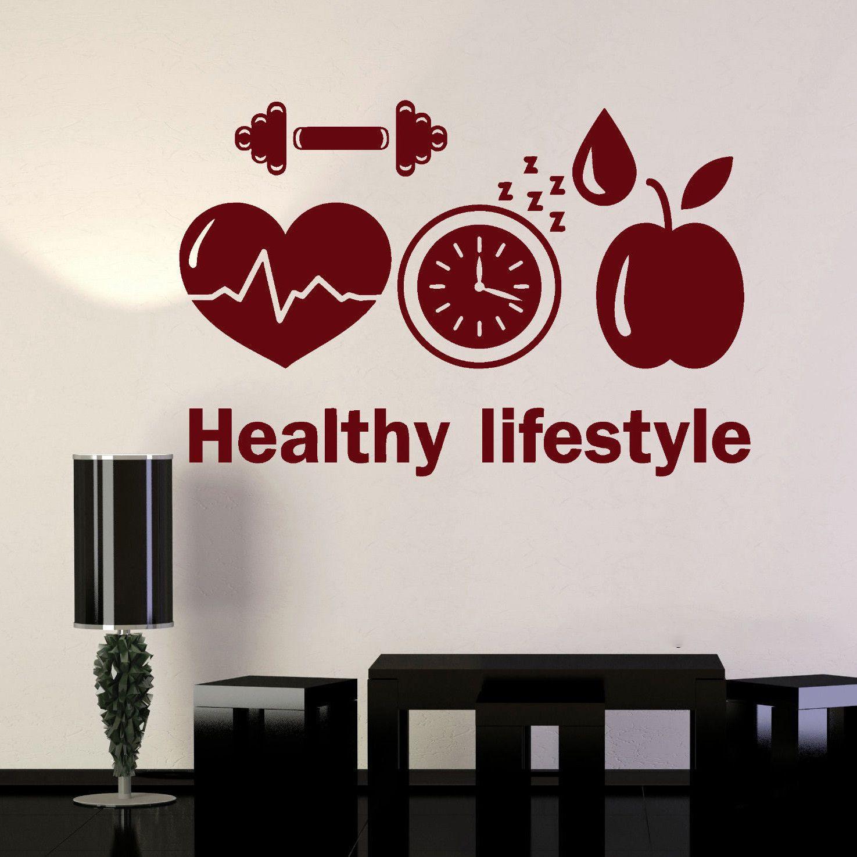 Großhandel Gesunder Lebensstil Wandtattoo Sport Motivation Diät Gym
