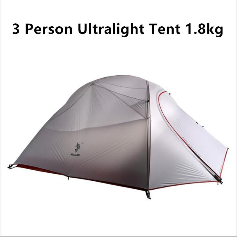 1.8KG Ultralight 3 Person Tent 20D Silicone Fabric Double Layers Aluminum Rod C&ing Tent Waterproof Hiking Tent Great Outdoors Tents 3 Man Tent From ...  sc 1 st  DHgate.com & 1.8KG Ultralight 3 Person Tent 20D Silicone Fabric Double Layers ...