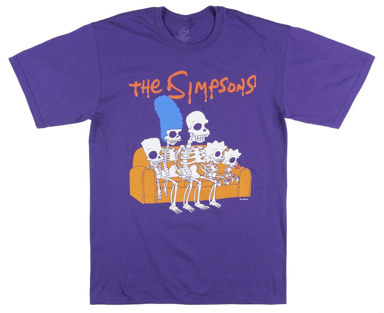 Simpsons Halloween Shirt.The Simpsons Family Skeletons T Shirt Purple Mens Halloween Retro Tv 234xl I197 Funny Free Shipping Unisex Casual Gift