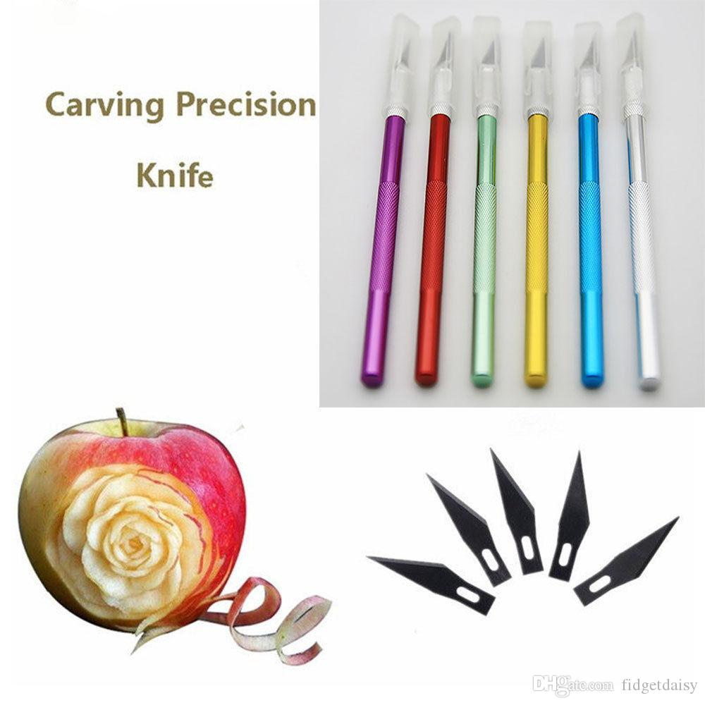 Multi-color Metal Handle Non-Slip Scalpel Knife With Blade Scalpel Cutter Engrave Tools Kit Craft knives Mobile Phone Laptop PCB DIY Re