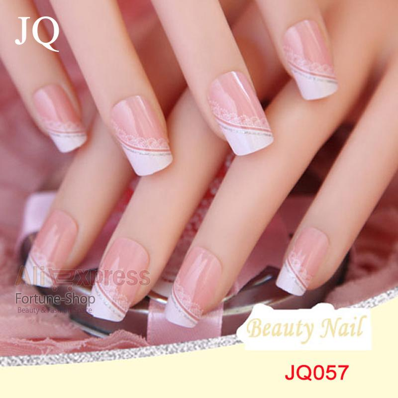 Jq Acrylic Nails 3d False Nail Full Fake Nail French Tips Pre Design ...