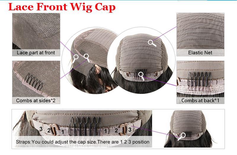 short cut human hair lace front bob wigs for black women straight cut long bob wig full lace lob