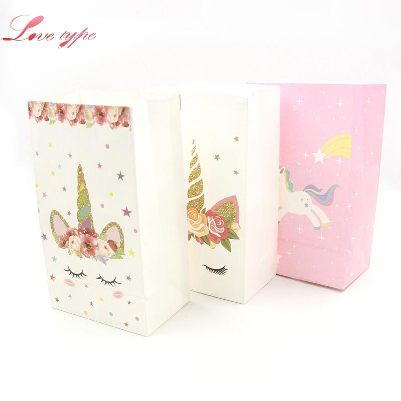 White Pink DIY Unicorn Paper Bag Birthday Party Decorations Kids Gift Wedding Favors And Gifts Supplies Online Wrap Wrapping