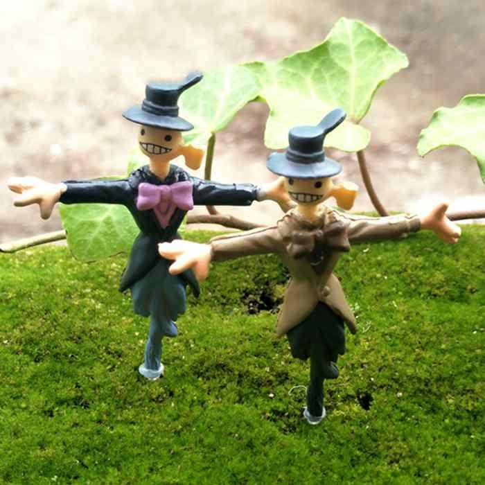 Howl's Moving Castle Kohlrabi Micro Scarecrow Figure Doll Moss Terrarium DIY Gardening Landscape Ornaments Fairy Garden Zakka Accessories