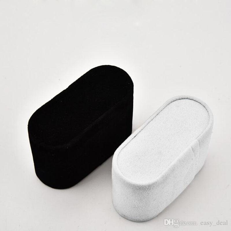 7.5 * 3 * 4.5 cm Pequeno Branco Black Bracelet Watch Travesseiro Suporte Titular de Jóias Showcase Display de Armazenamento De Moda ZA6345